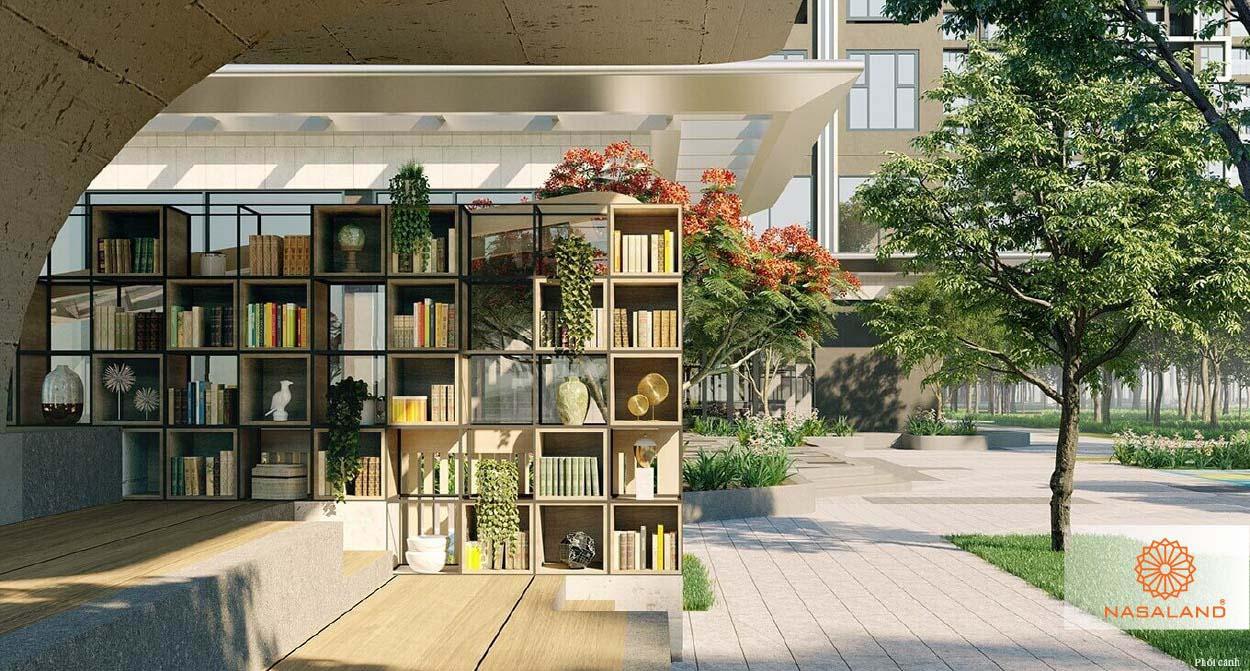 tiện ích thư viện ngoài trời masteri west heights