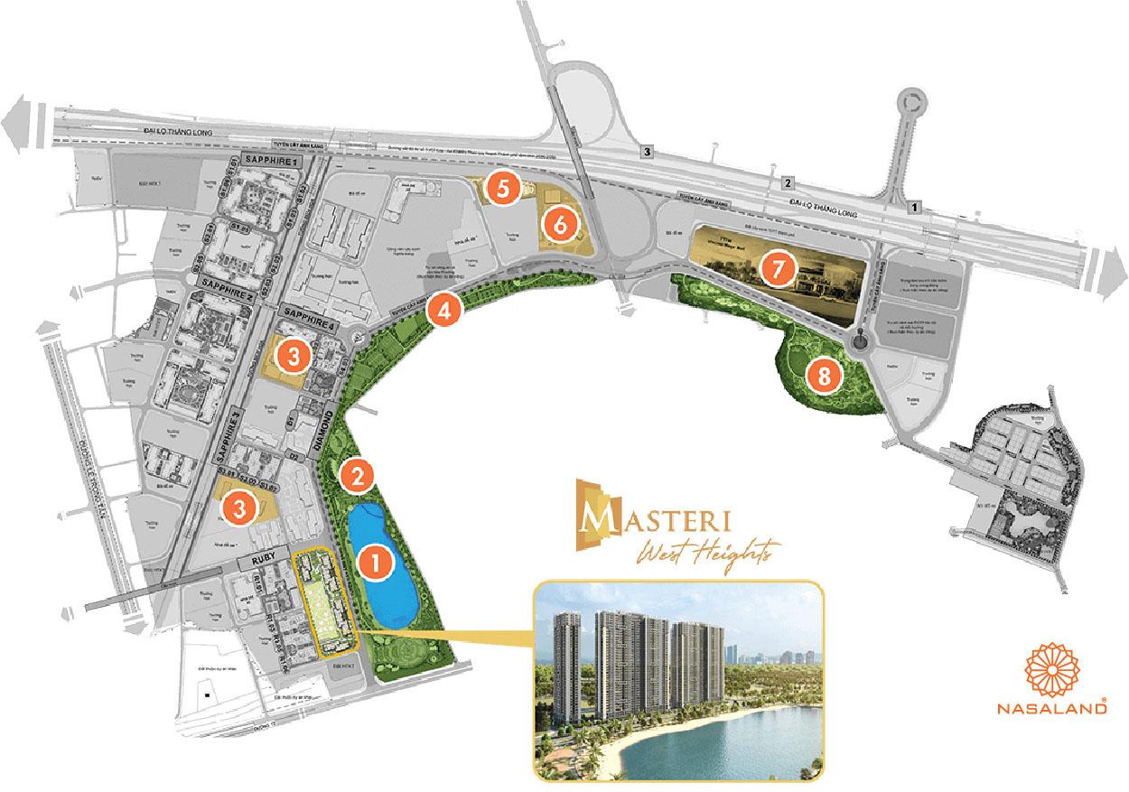 vị trí căn hộ masteri west heights