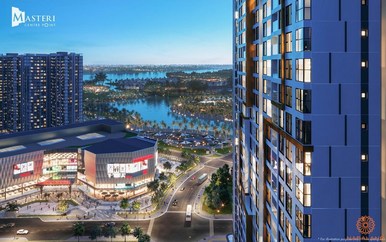 Giá bán Masteri Centre Point - Tầm nhìn đắt giá hướng về công viên 36ha