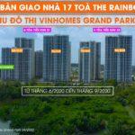 Lịch bàn giao nhà Vinhomes Grand Park 17 tòa The Rainbow bắt đầu từ tháng 6/2020 đến tháng 9/2020